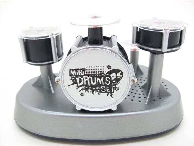 Funny Finger Drum Kit Office Toy Game Gimmick Fun Gadget LED DJ Rave Party  Favor Electronic Musical Drum Kit Learning Educational Toy for Kids Child