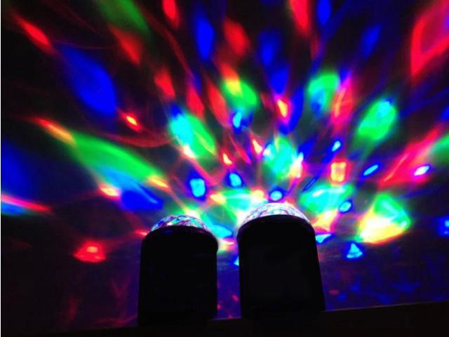 Wireless Bluetooth Mini Mp3 Music Speaker Led Disco Mirror Ball Club Party Light Portable Player Rave Stage Up Dance