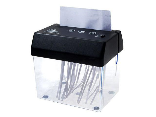 Compact Shredder Shredding Head With Waste Basket Bin Fit Over A6 Paper W Shred Portable Electric Home