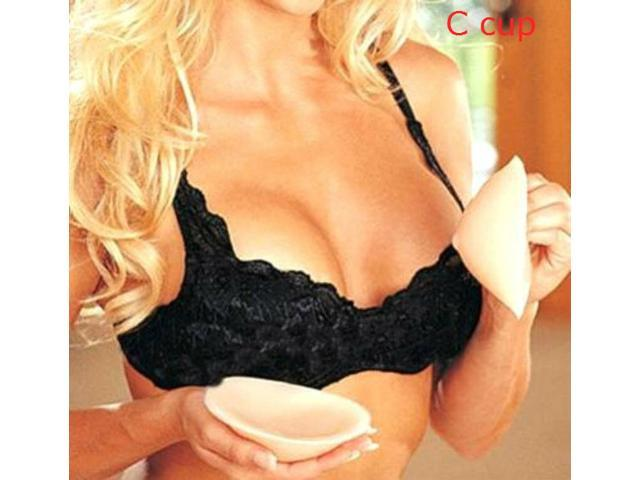 21531adc77fd0 C CUP SILICONE BRA INSERTS FASHION SILICON CHICKEN FILLETS FORMS NU BOOB  PADS FALSIES SILICON BREAST