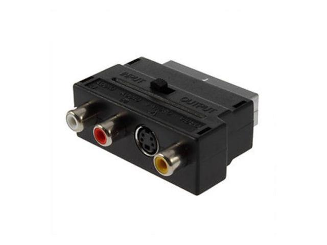 d7de3248596 TRIXES Composite RCA and S-Video to SCART Adapter Input/Output Switchable
