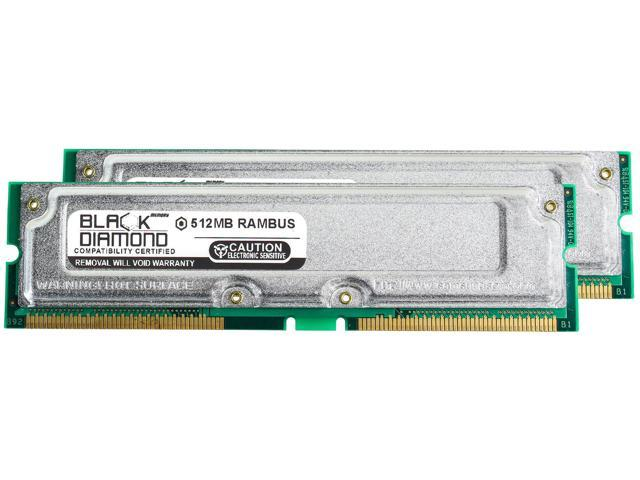 1GB 2X512MB RAM Memory for Intel O Series OR840 Rambus RDRAM RIMM 184pin  PC800 45ns 800MHz Black Diamond Memory Module Upgrade - Newegg com