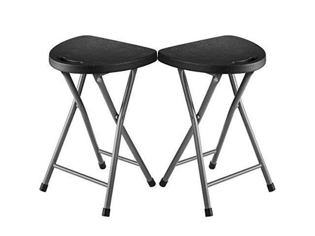 Pleasant Zimmer Folding Stool Set Of 2 Portable Plastic Chair 18 Inch Creativecarmelina Interior Chair Design Creativecarmelinacom