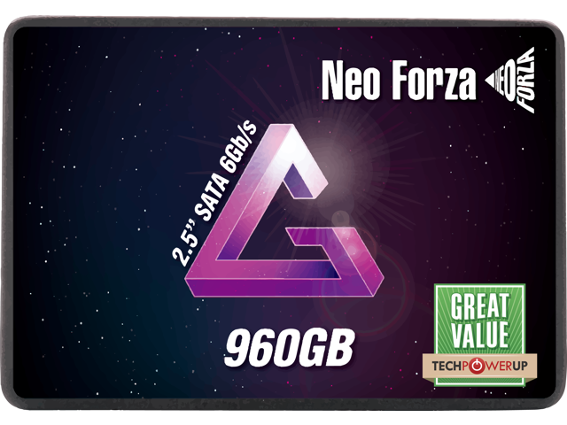 """Neo Forza NFS01 2.5"""" 960GB 3D TLC SATA III High Speed up to 560MB/s Read, 520MB/s Write Internal Solid State Drive (SSD) NFS011SA396-6007200"""