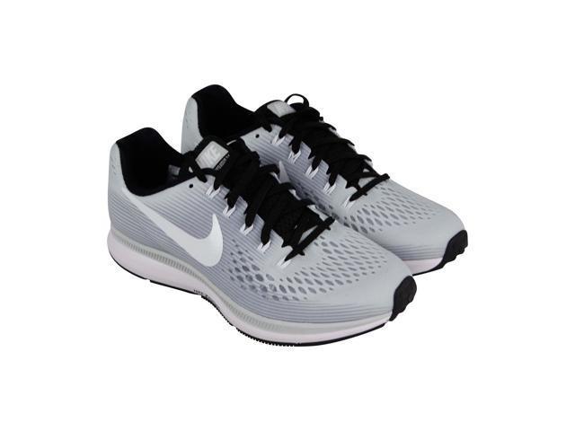 bcdfe937fab2b Nike Air Zoom Pegasus 34 Tb Pure Platinum White Black Womens Athletic  Running Shoes