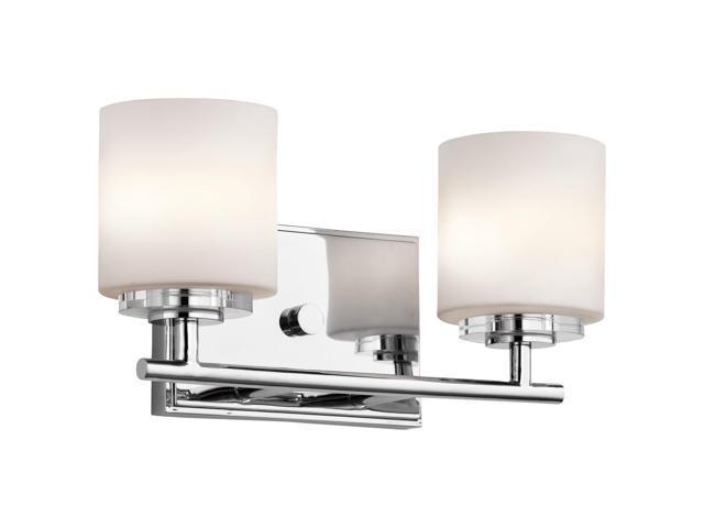 Kichler 45501CH, O Hara Glass Wall Vanity Lighting, 2