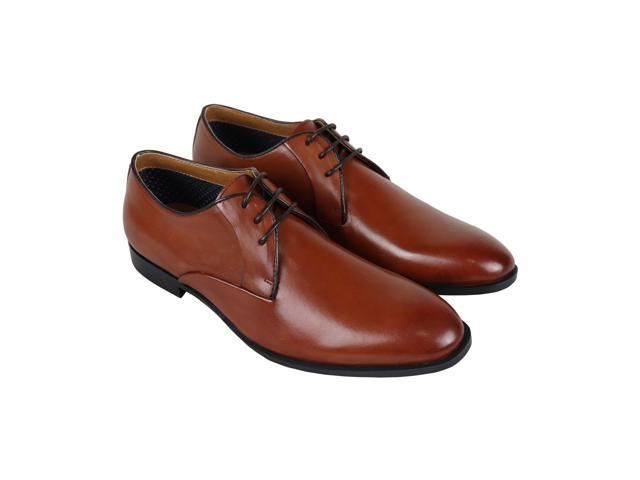 5cec22517d2 Steve Madden Easton Cognac Leather Mens Dress Oxfords - Newegg.com