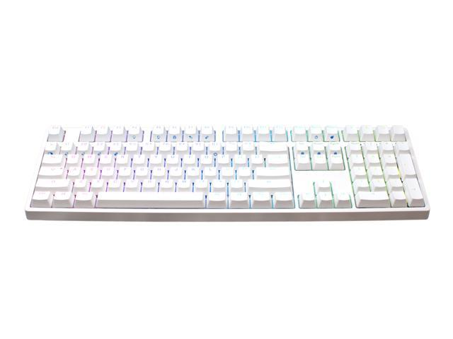 iKBC F108 RGB Full Size Mechanical Keyboard with Cherry MX Red Switch,  Double Shot PBT Keycaps, White Case  - Newegg com