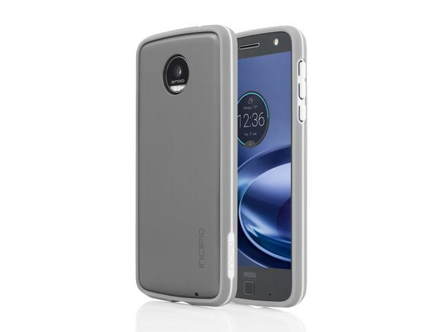 reputable site 446d6 2cfd7 Incipio Co-Molded Bumper Case for Moto Z Force Droid - Silver - Newegg.com