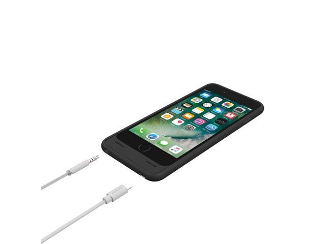 sports shoes 8345a 6d824 Incipio Ox iPhone 7 Case with Integrated Lightning and 3.5mm Auxiliary  Ports for iPhone 7 - Black - Newegg.com