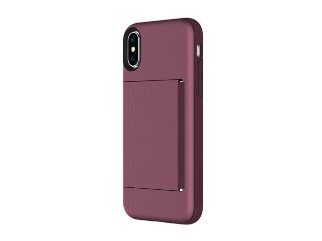 info for 47860 1e062 Incipio Stowaway iPhone X Case with Credit Card Slot Holder and Integrated  Stand for iPhone X - Plum - Newegg.com