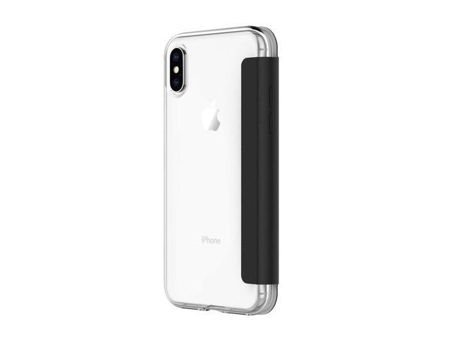 cheap for discount 4c9df 9ed3b Incipio NGP Folio iPhone X Case with Card Slot Holder and Protective Front  Cover for iPhone X - Clear/Black - Newegg.com