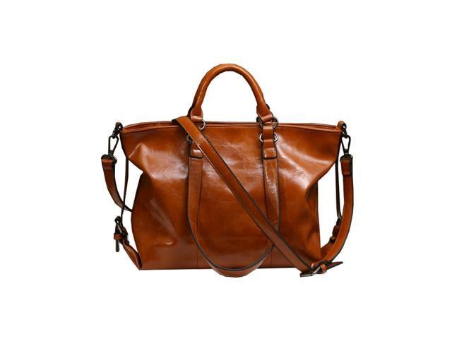 8906298c34 Cheerhuzz Fashion Lady Handbag Shoulder Bag Tote Purse Oiled Leather Women  Messenger Bag BA02