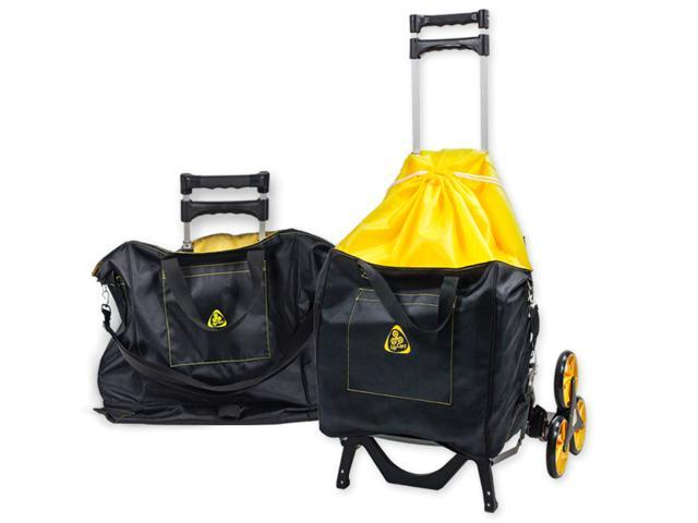 43d4dfdaec49 UpCart with Bag Bundle All-Terrain Stair Climbing Folding Cart Moves up to  100-pounds - Newegg.com