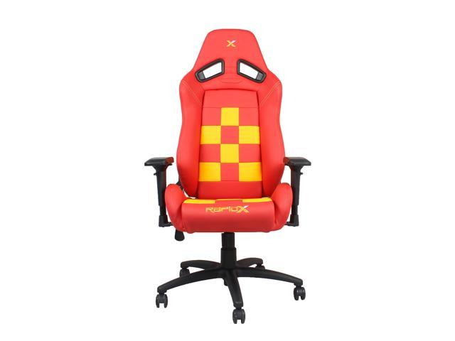 ed1c8590be56a Finish Line Red on Yellow Checkered Flag Pattern Gaming and Lifestyle Chair  by RapidX