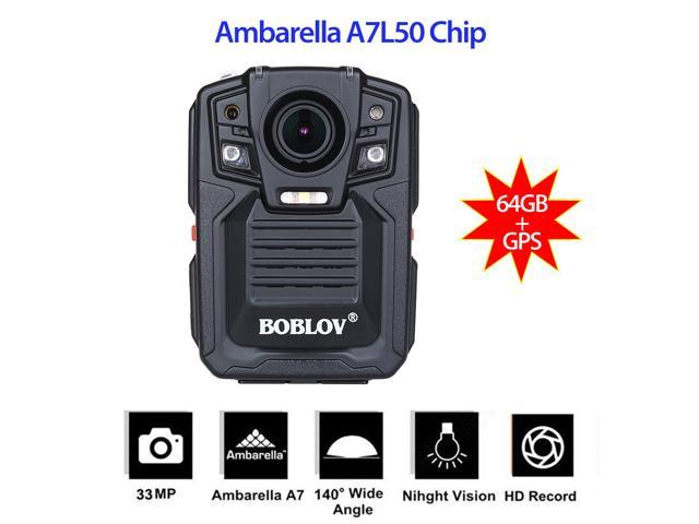 Boblov 64GB Ambarella A7 33MP GPS HD 1296P Police Body Camera IR Night  Version Body Recorder - Newegg com