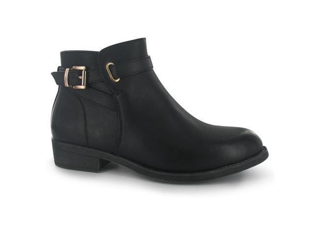 290baae88d7f Miso Womens Bucks Flat Ankle Boots Ladies Shoes Slight Heel Zip Fastening