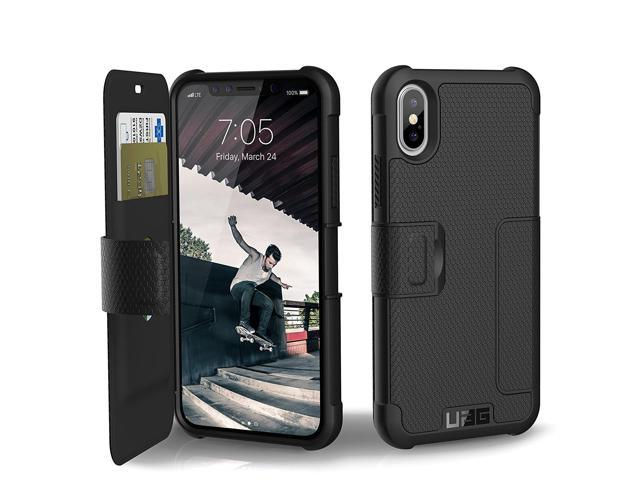 low priced 33820 bb4ac UAG Folio iPhone Xs / iPhone X [5.8-inch Screen] Metropolis Feather-Light  Rugged [Black] Military Drop Tested iPhone Case - Newegg.com