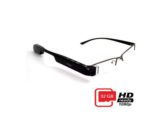 411546b76ac DigiOptix 1080p smart Hidden Camera glasses 32GB with Sunglasses Frame (PC  lense) hd video