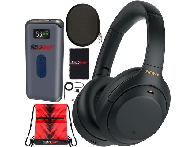 Sony WH-1000XM4 Wireless Noise Cancelling Headphones with Hands Free Mic Black Bundle