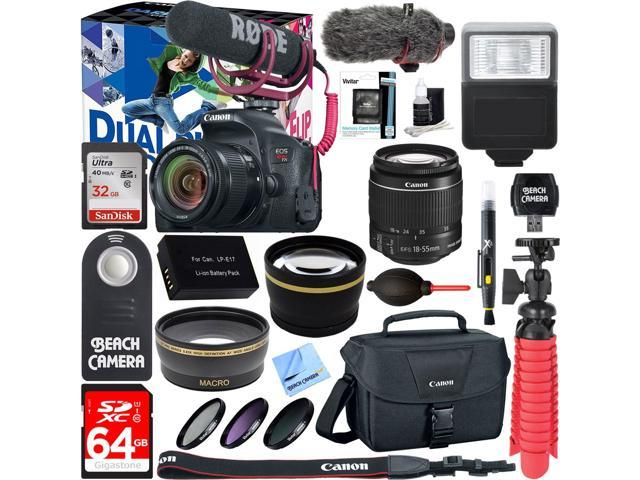 Canon EOS Rebel T7i DSLR Camera Video Creator Kit + 18-55mm