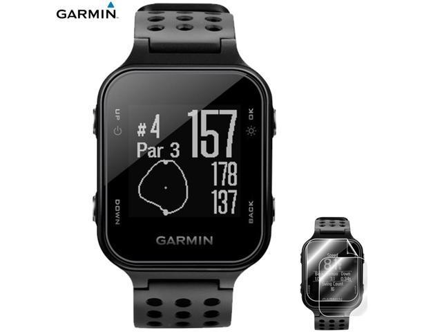 Garmin Approach S20 GPS Golf Watch Black + Approach S20 Screen Protector  2pack - Newegg com