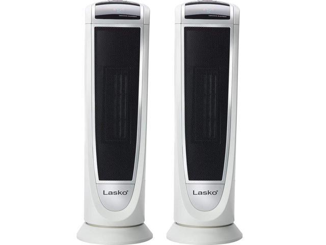 Oscillating Lasko 5165 Digital Ceramic Tower Heater with Remote Control Handl