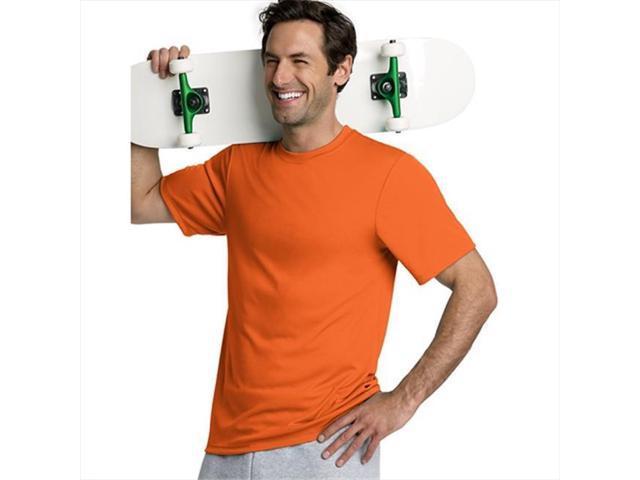 172a7e14 Hanes 4820 Cool Dri Tagless Men T-Shirt Size Extra Small - Safety Orange