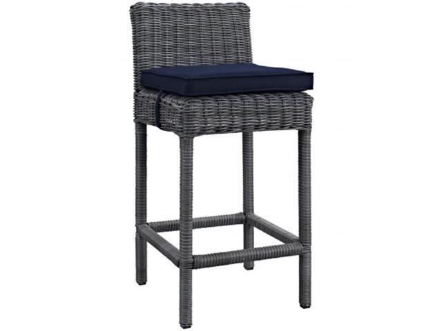 East End Imports EEI 1960 GRY NAV Summon Outdoor Patio Bar Stool,