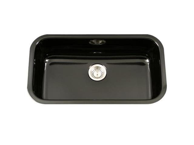 Houzer Pcg 3600 Bl Porcela Series Porcelain Enamel Steel Undermount Large Single Bowl Kitchen Sink