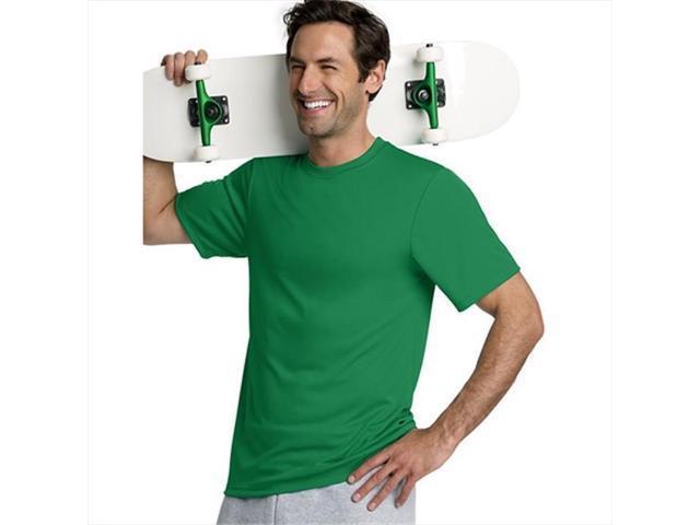 b05df624 Hanes 4820 Cool Dri Tagless Men T-Shirt Size Extra Small - Kelly Green
