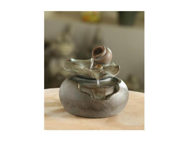 Jeco FCT108 Lotus Leaf Tabletop Water Fountain