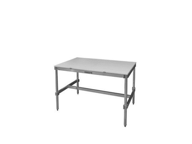 Prairie View AIFT303424-PT Poly Top Aluminum I-Frame Table, 34 to ...