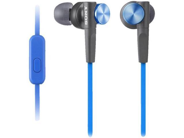 Sony MDRXB50AP - L Blue Extra Bass Earbud Headset