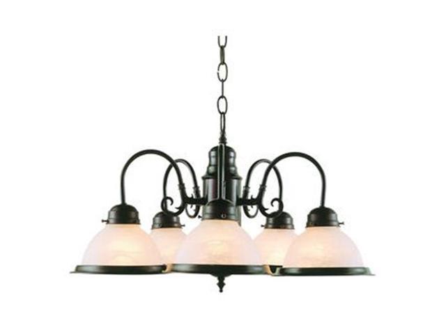 Trans Global Lighting 1092 Bn Back To Basics 5 Light Down