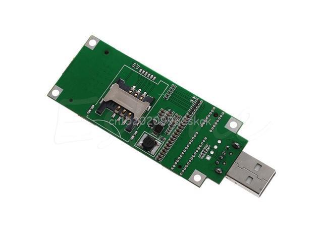 Mini PCI-e Wireless WWAN to USB Adapter card With SIM Card Slot Module testing