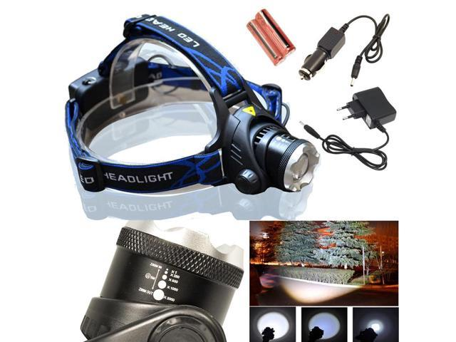 2000 Lm CREE XM-L T6 LED head light lamp Headlamp Headlight flashlight