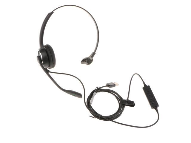 Usb Call Center Telephone Headset With Microphone For Landline Office Phones Newegg Com