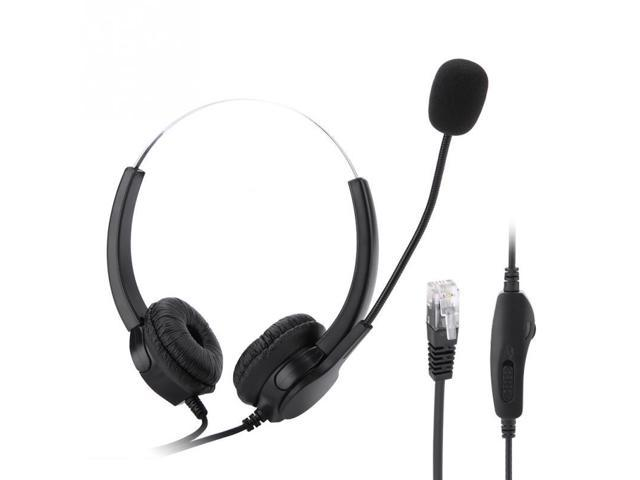 H800D-RJ9 Crystal Call Center Headset Noise Cancelling Call Center  Headphones with Comfortable Wear - Newegg com