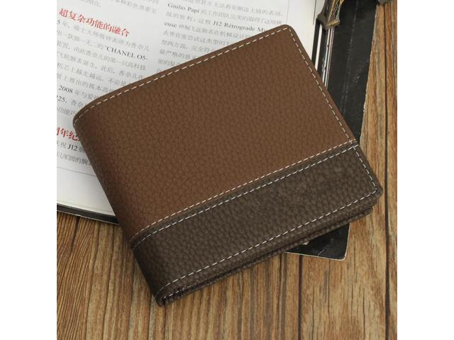 7f259788d9b3 Men Vintage Leather Short Bifold Wallets ID Credit Card Holder Billfold  Purse Clutch 2018 Designer Luxury Brand Men Wallet - Newegg.com