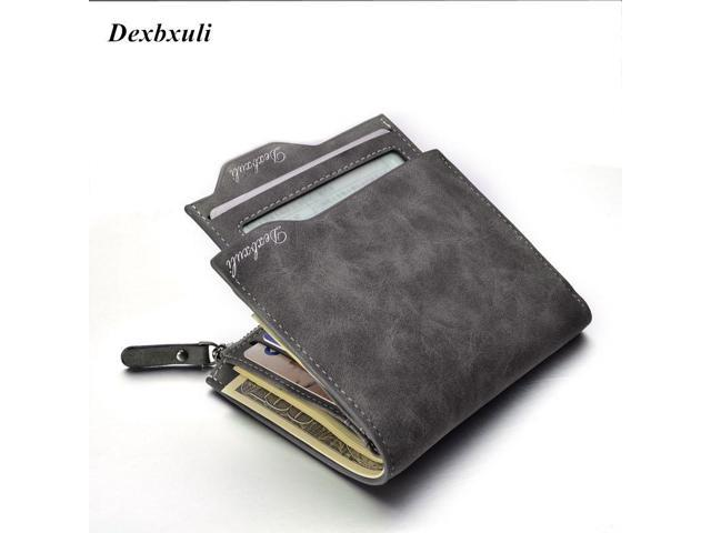 2018 Hot Fashion men wallets Bifold Wallet ID Card holder Coin Purse Pockets Clutch with zipper