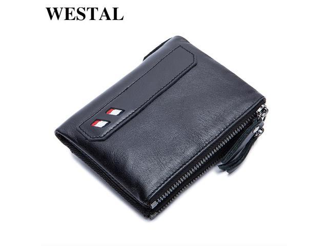 ef1d87d604 WESTAL Small Men Genuine Leather Wallet Men Wallets Male Clutch Coin Purse  Mens Wallets Male Man Wallet Credit Card Holder 8836 - Newegg.com
