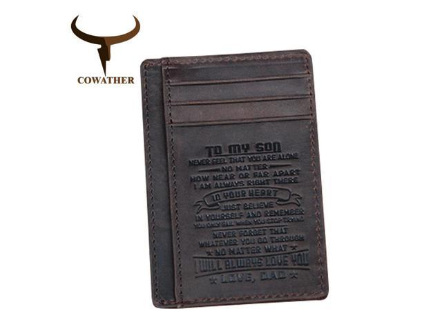 68286afc13 COWATHER top quality cow genuine leather card holder wallets for men 100%  cowhide fashion design male credit card purse - Newegg.com