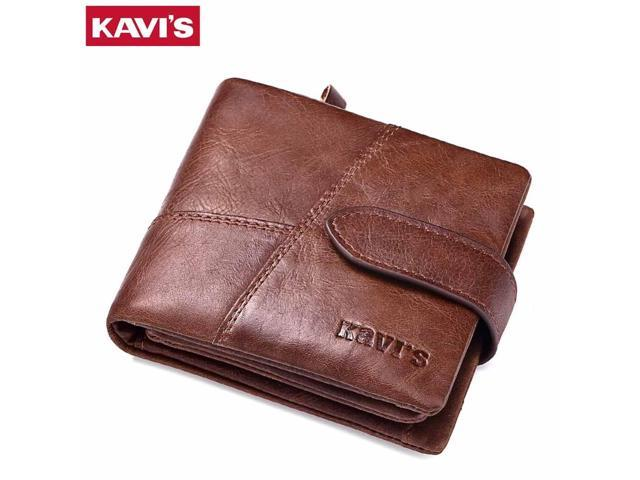 ee39408b1ca0 KAVIS Genuine Leather Wallet Men Small Walet Portomonee Rfid Mini PORTFOLIO  MAN Money Bag Male Cuzdan