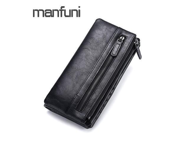 3c4a2b36393b Luxury Brand Men Wallets Clutch Bags Leather Long Coin Pocket Business Male  Purse Wallet Man Card Holder Zipper Phone Wallet - Newegg.com