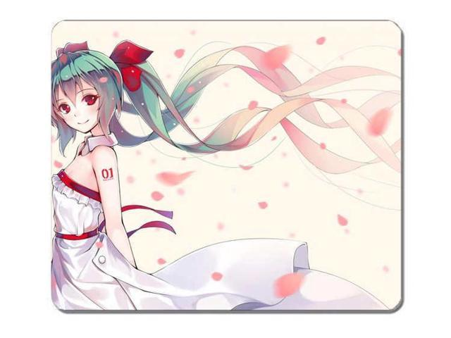 Customized Mousepad Hatsune Miku Anime Girls Vocaloid Smiling Gaming Mouse Pad Mouse Mat Size 10 X 11 Newegg Com