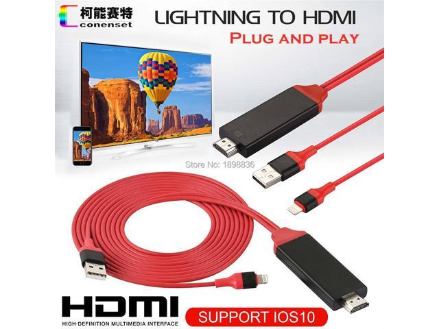 AirPlay 8 pin Lightning to HDMI HDTV AV Cable Adapter for iOS 10 11 iPhone  X 5 SE 6S 7 8 Plus iPad Air 2 Pro mini iPod - Newegg com