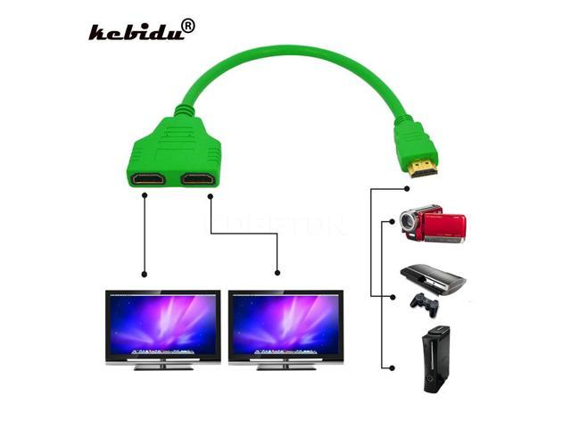 kebidu Hot sale 1 to 2 HDMI Splitter Adapter Male to Female Splitter Double  Signal Adapter Converter Cables for Video TV HDTV - Newegg com
