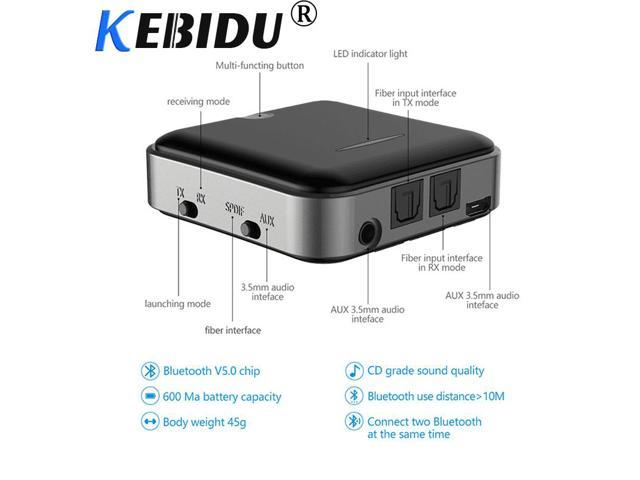 kebidu Hot Bluetooth 5 0 Transmitter Receiver Wireless aptX HD Optical  Toslink Audio 3 5mm Aux/RCA& Adapter for TV/Headphone - Newegg com