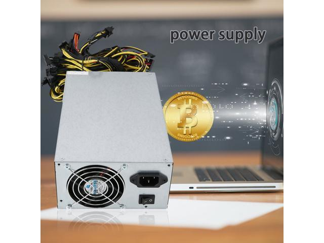 1800W Modular Mining Machine dedicated Power Supply for 6 GPU for ETH Rig  Ethereum BTC Mining Miner ATX Mining Machine with Ultra Quiet  Fan(Applicable